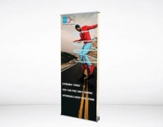 Double Sided Double Orient Banner Stand