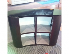 Back of Pop Up Curved Counter