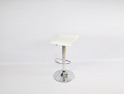 White Low-Back Stool