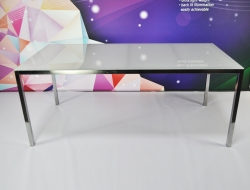 White Glass Meeting Table