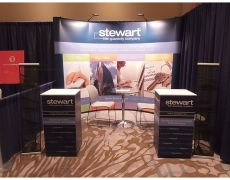 Stewart Title 10' Pop Up with Custom Counters