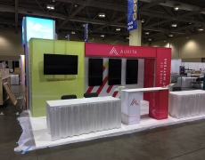 AUXITA 20' Fabframe display with Fabric Graphics