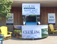 Club Link Custom Outdoor Display