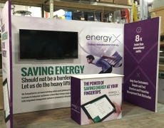 EnergyX 10' Fabframe with Side Walls and Counter