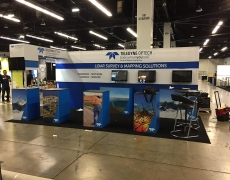Teledyne  10' x 20' blueprint display with bridge