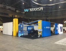 Marsh 40' x 50' Custom Rental Booth with Backlit Graphics