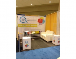 Sigma Promotions 10' Fabric Backwall & Custom Ballot Box