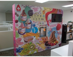 Yogurtys 10' Custom Backwall with Monitor