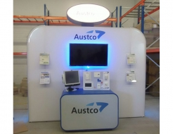 Austco Custom Backwall with Monitor