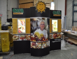 Cora 10' Custom Display with Backlit Signs
