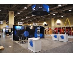 TC Media Custom Display with Hanging Halo Sign