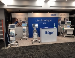 Draeger 20' Fabframe display with hop up counter