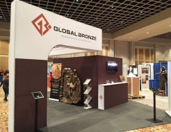 Global Bronze Custom 20 x 20 Booth with L-Shaped Header