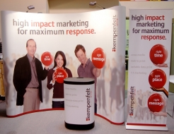 Kempenfelt Graphics Group - 10' Curved Pop Up Display