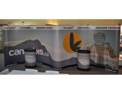 20' Gullwing Curved Pop Up Display - Vinyl Graphics
