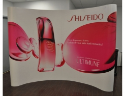 10' Curved Pop Up Display - Vinyl Graphics