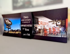 Two 10' Vertical Curved Formulate Wall With Connection Panel  - Fabric Graphics
