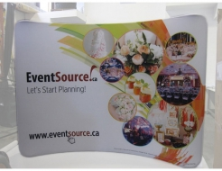 10' Curved Pocket Wall - Fabric Graphics