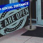 Social Distancing Banner stands