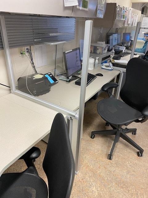 Desk Floor Barrier